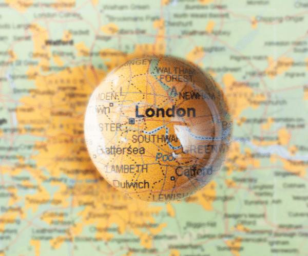Attencon marketing magnified area of London